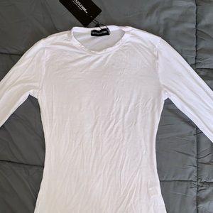 Prettylittlething white long sleeve